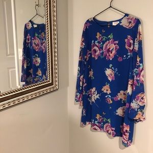 2 for $25 | Everly | Royal Blue Floral Mini Dress